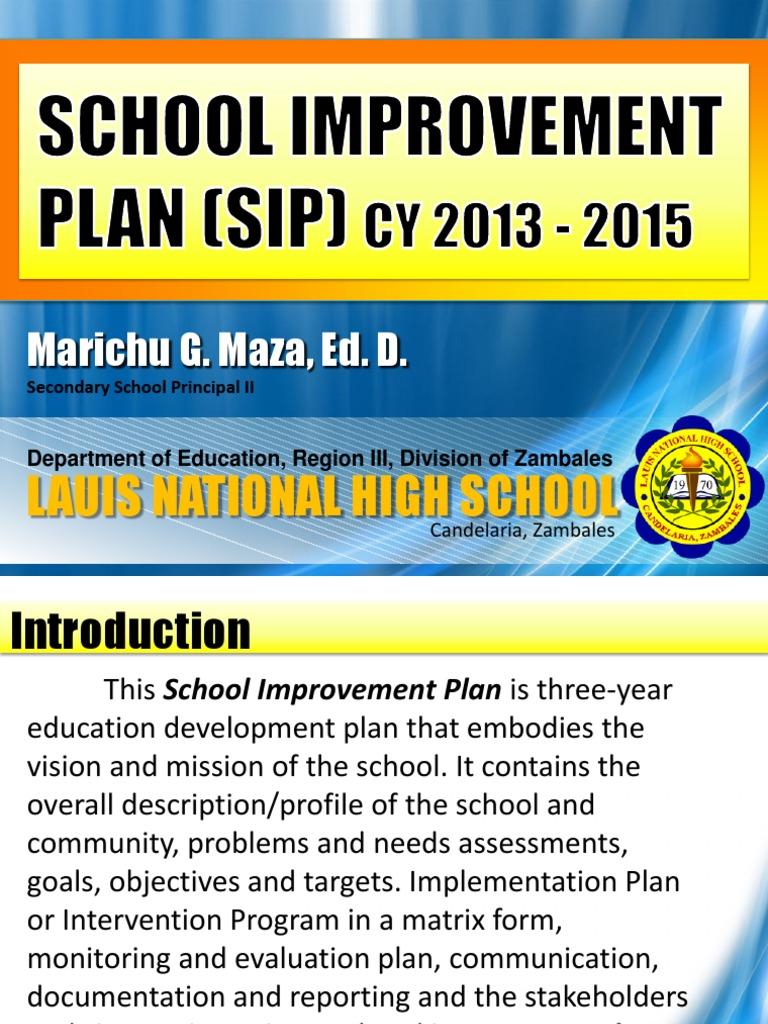 LNHS School Improvement Plan 2013 - 2015 | Bullying | Educational ...