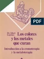 Leprince Albert - Los Colores Y Los Metales Que Curan