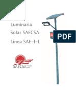 Ficha Técnica Luminaria Solar SAE-L-I