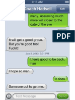 Kevin Hadsell's texts to runner during the January investigation