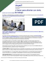 Lo que no debes hacer para afrontar con éxito una entrevista de trabajo _ El Comercio Perú