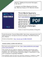 Weiss, Governance, Good Governance
