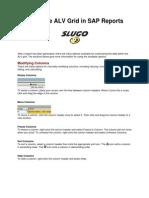 ALV Grid in SAP Reports