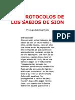 LOS PROTOCOLOS DE LOS SABIOS DE SION - Prólogo de Julius Evola