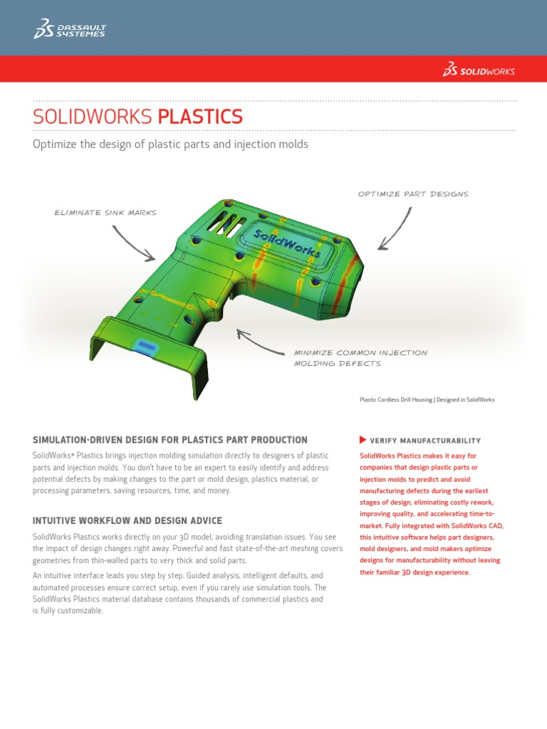 SolidWorks Plastics 2013 | Simulation | Plastic