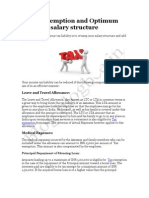 Tax exemption and Optimum salary structure