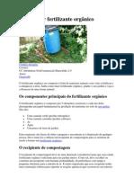 Como fazer fertilizante orgânico