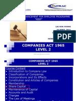 CA 1965 L2 Shares, Maintenance of Capital, Accounts