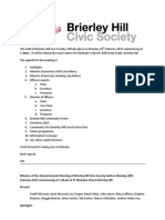 AGM of Brierley Hill Civic Society Monday 18th February 2013 5.30pm