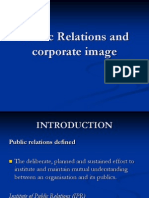 public relations and corporate sector