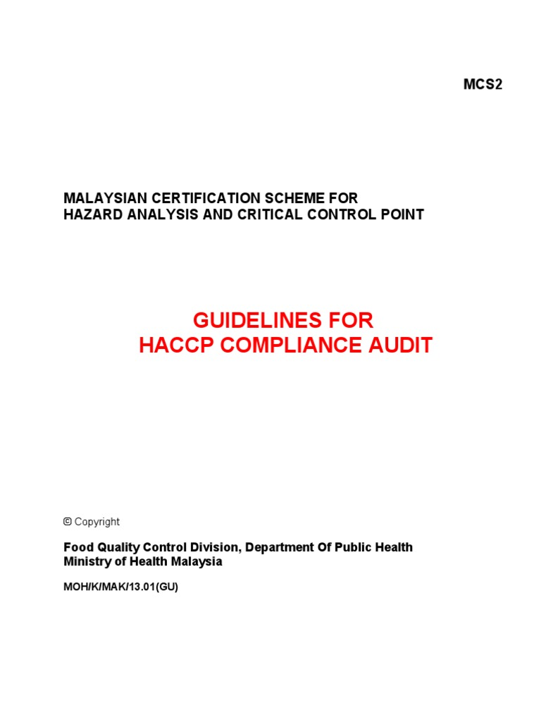 HACCP_2  | Hazard Analysis And Critical Control Points | Audit