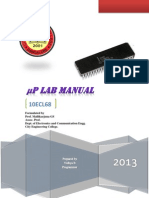 6th sem Microprocessor Lab Manual using AFDEBUG 10ECL68
