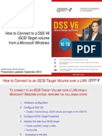 How to Connect to DSS V6 iSCSI Target Volume From Microsoft Windows
