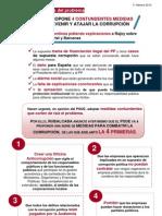 El PSOE propone 4 contundentes medidas para prevenir y atajar la corrupción...