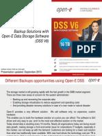 Open-E Different Backups
