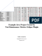 VizzMaintenance Eclipse Plugin Metrics