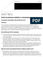 Macroeconomic developments likely to influence gold in 2013-World Gold Council-