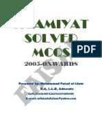 Islamiyat Solved MCQs