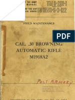 Field Maintenance Manual BAR M1918A2 (English, 1957)