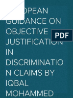 European guidance on objective justification