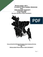 Eyewitness Accounts of Pakistan's 1971 Genocide in Bangladesh