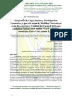 Programa de Capacitacion y Participacion Comunitaria Para La Toma de Medidas Preventivas en La Recoleccion y Control Del Caracol Africano