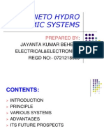Magneto Hydro Dynamic Systems Ppt Presentation Way2project In