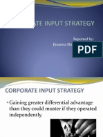 Corporate Input Strategy