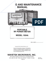 Wavetek Portable RF Power Meter Model 1034A (1499-14166) ~ Operating and Maintenance Manual, 1966.