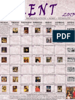 2013 Lenten Calendar - Old Purple Print
