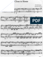 Close to Home - Keith Emerson piano score