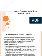 BCS 1.6 BC & Ethical Context