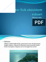 Karakter Fisik Ekosistem Estuari