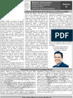 Boletín Informativo, edición del mes de Febrero
