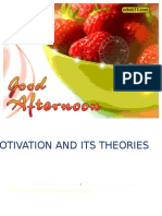 Motivation and its  theories