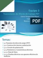 3Transistores de Efecto de Campo FET