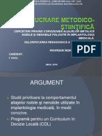 LUCRARE METODICO-ŞTIINŢIFICĂ GRAD I