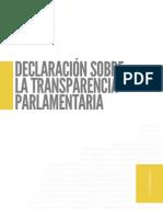 Declaración Sobre transparencia Parlamentaria
