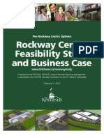 Rock Way Options From Feasibility Study Kitchener Seniors Centre Feb 11, 2013