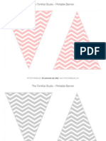 Chevron Pennant Banner - The Tomkat Studio