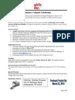 2013 ALUMNAE Application Packet