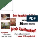 plakat Wystawa J. Wróblewskiego