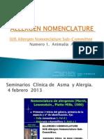 Allergen Nomenclature  Animalia  Artropoda