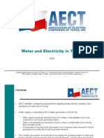 Water and Electricity in Texas