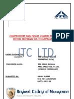 project report of ITC LTD