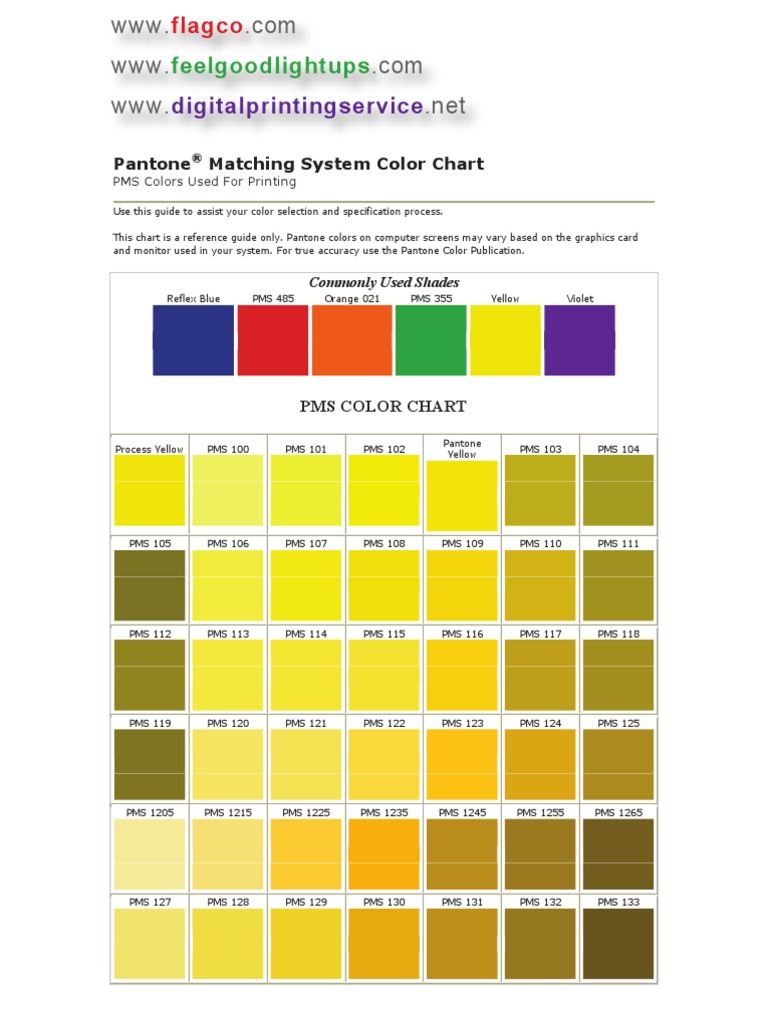 Pantone Color Chart Qualia Artistic Techniques