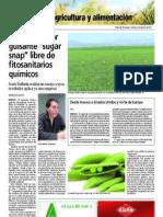 "Logran cultivar guisante ""sugar snap"" libre de fitosanitarios químicos"