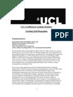Aesthetics Cert Faculty Biographies