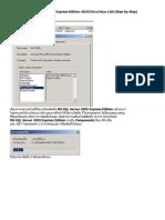 การติดตั้ง MS SQL Server 2005 Express Edition