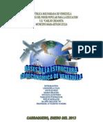 Bases de La Estructura Geoeconomica de Venezuela